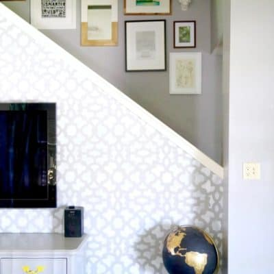 Inspiration and ideas for unique accent walls in your home. Includes plank walls, stencils, and shiplap and more! If you want to add some interest to a room in your house, this post is for you!