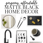 Matte Black Home Decor Inspiration