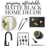 Matte Black Home Decor Inspiration