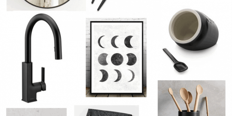Every room needs a little bit of black! It adds drama, dimension, and a lot of elegance to any room in your home. Here's a great roundup of gorgeous, inspiring, and affordable matte black home decor.