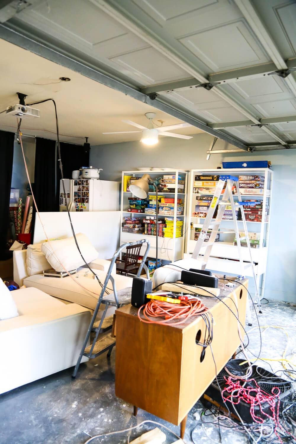 how to convert a room back into a garage