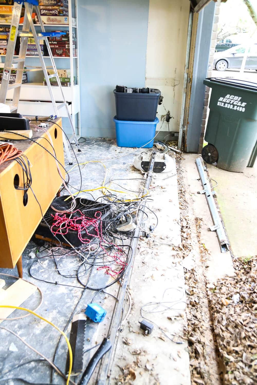 media room convert to garage