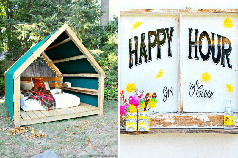 A roundup of easy, affordable, and gorgeous DIY backyard projects and upgrades. Tons of great ideas for how to make your backyard cozier this spring.