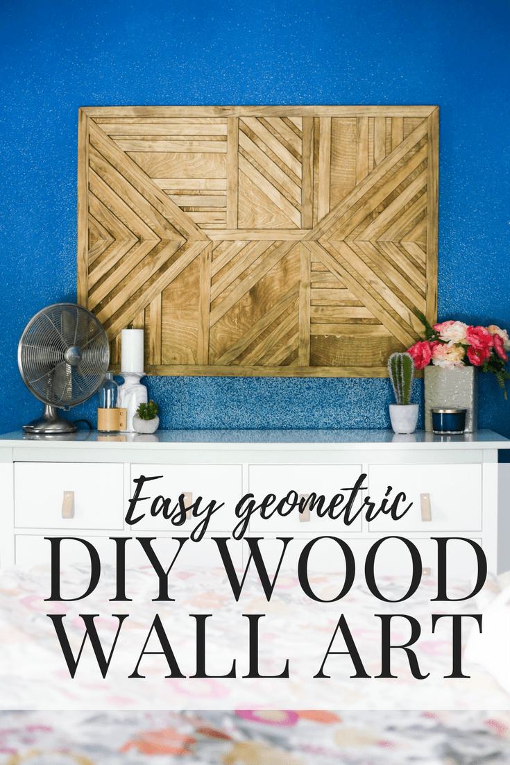 How to create a gorgeous, simple diy wood wall art piece for your home