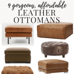 Affordable, Modern Leather Ottomans