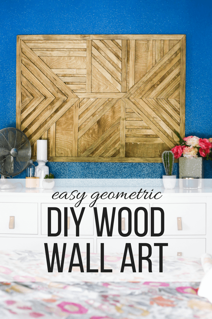 How to make a beautiful DIY wood wall art piece for your home.