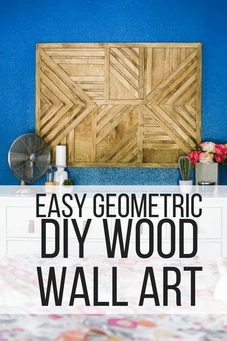 Easy geometric DIY wood wall art