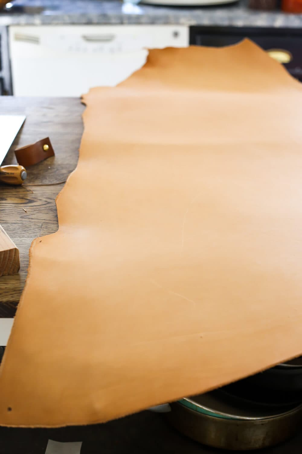 How to Make DIY Leather Drawer Pulls - Love & Renovations