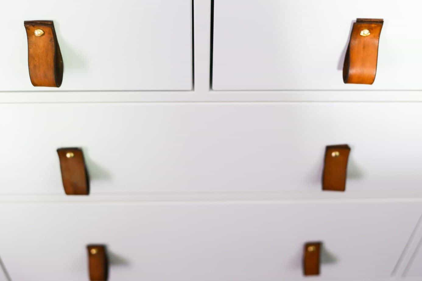 Easy Diy Leather Drawer Pulls Love Amp Renovations