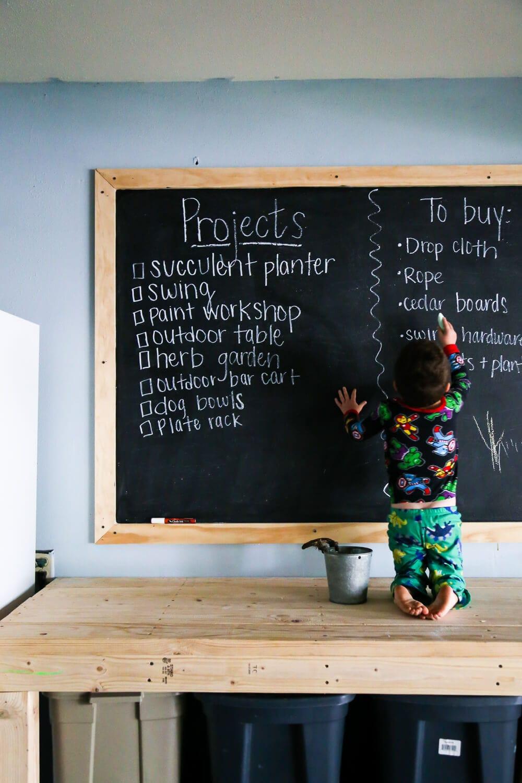 Easy DIY Big Chalkboard (This Giant Chalkboard Wall is ...