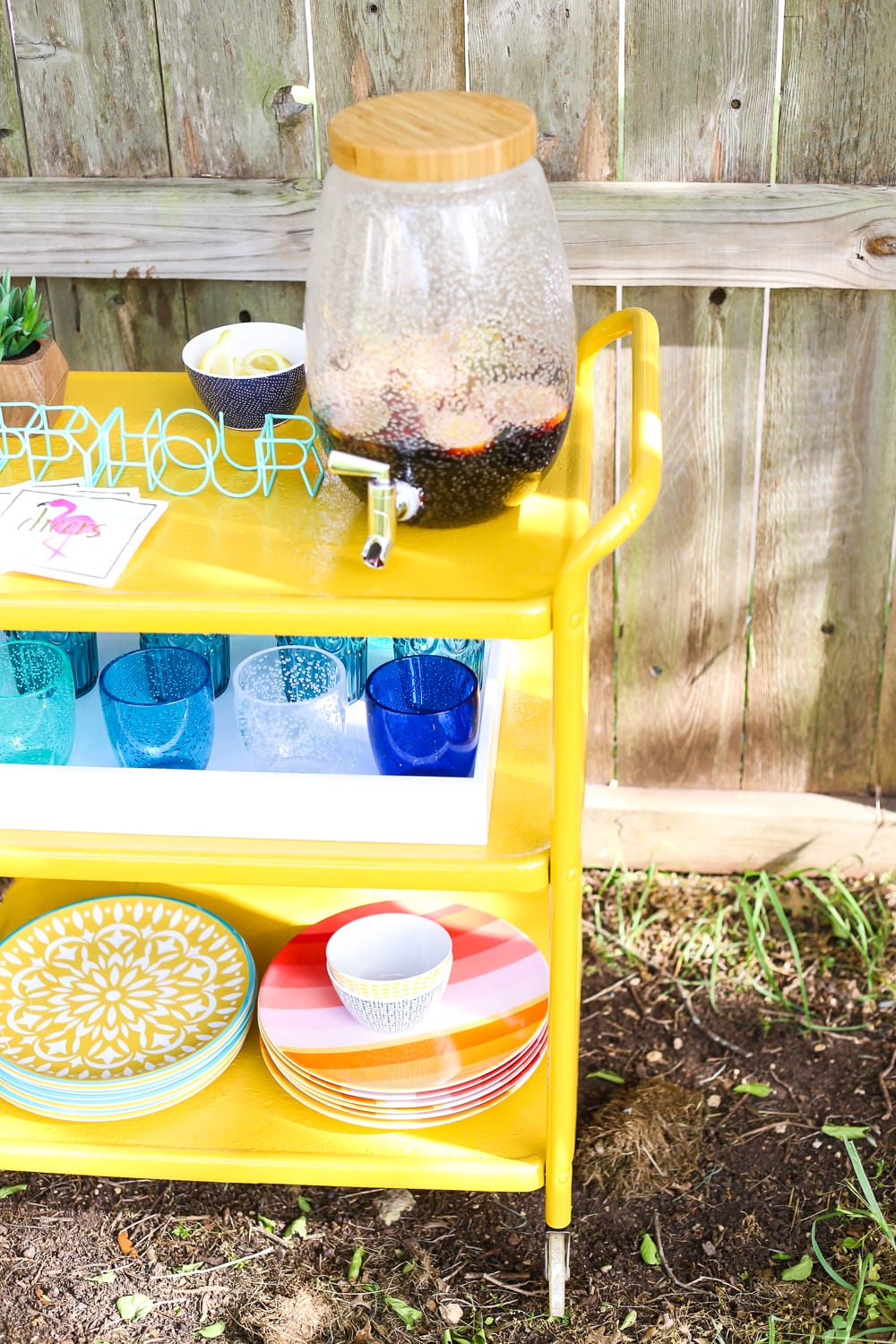 How to transform a rusty old bar cart