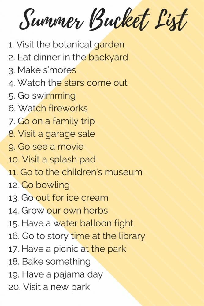The Ultimate Summer Bucket List 80 Ideas Love Renovations