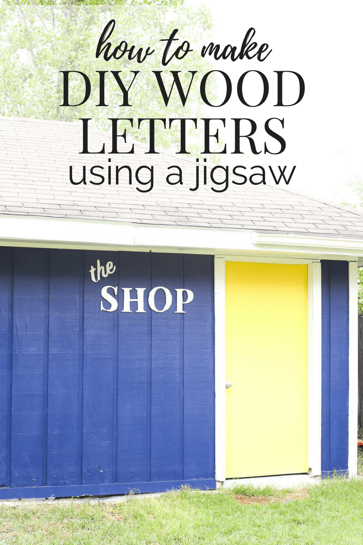 How to make a wooden sign to hang in your home using a jigsaw to cut out the letters. Really cute idea for an outdoor building, a bedroom, or anywhere else in the house!