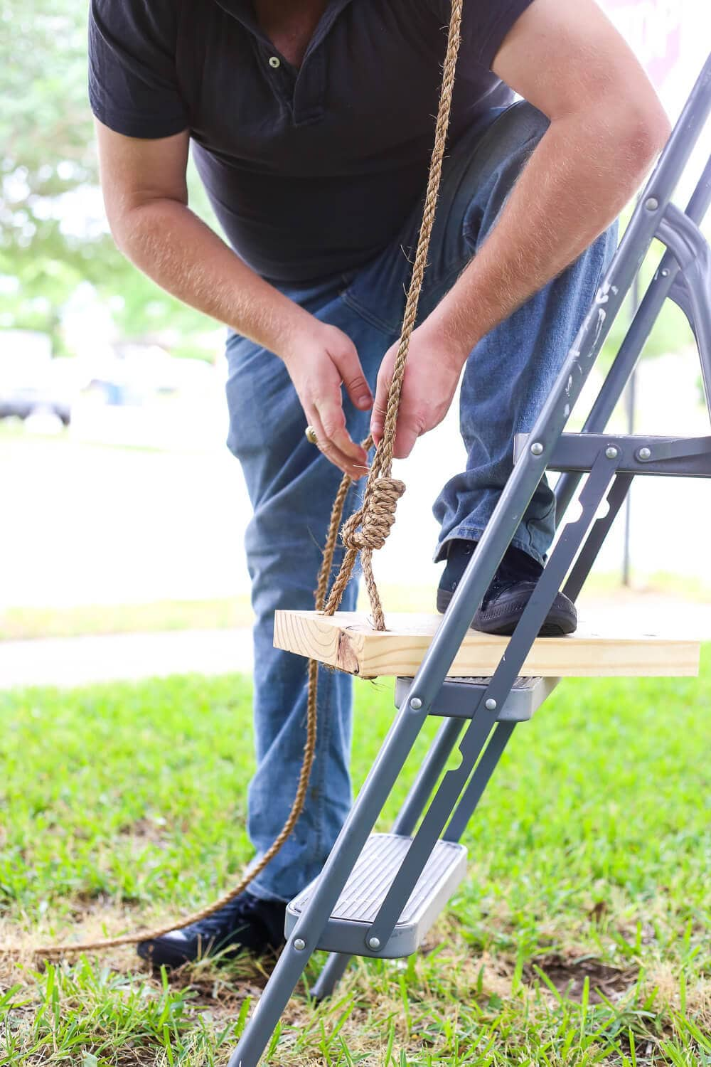 How to make a diy tree swing love renovations for Love making swing