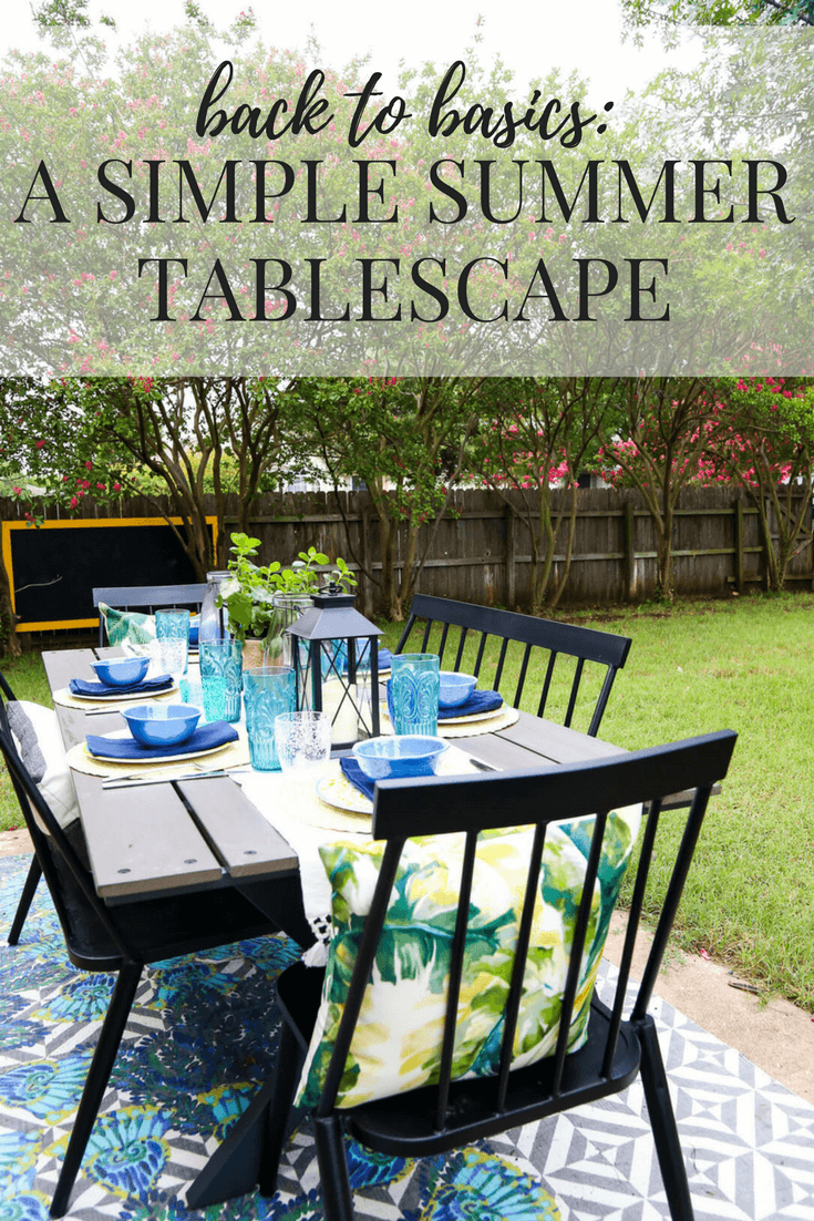 Tremendous Back To Basics Summer Tablescapes Love Renovations Beutiful Home Inspiration Ommitmahrainfo
