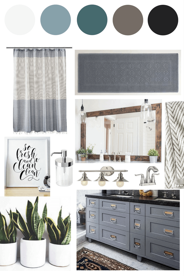 Jackson\'s Bathroom // The Mood Board | Love & Renovations