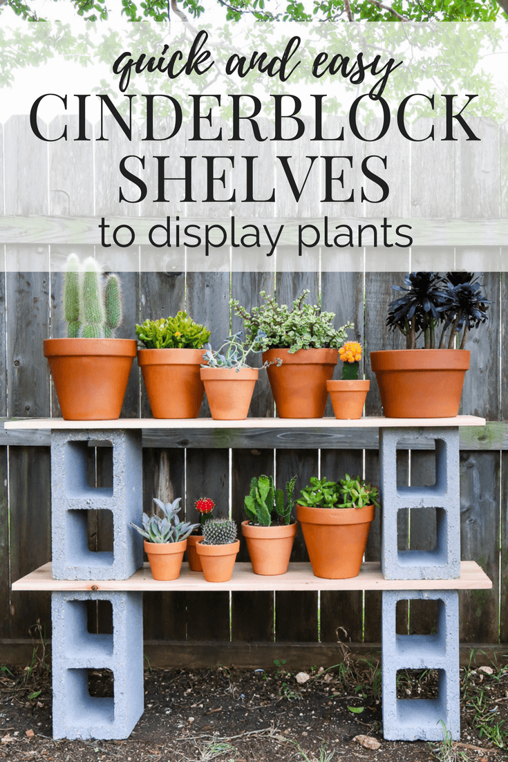 DIY Cinderblock Plant Shelves | Love & Renovations