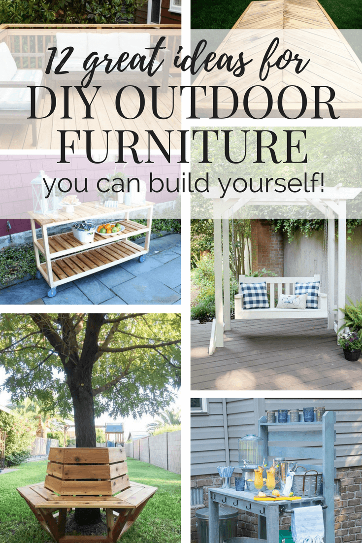 DIY Outdoor Furniture - 12 Great Ideas // Love & Renovations