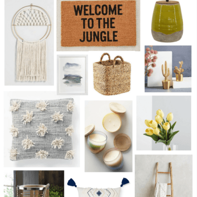 A roundup of summer home decor ideas - affordable, bright, and colorful decorations for your home this summer.