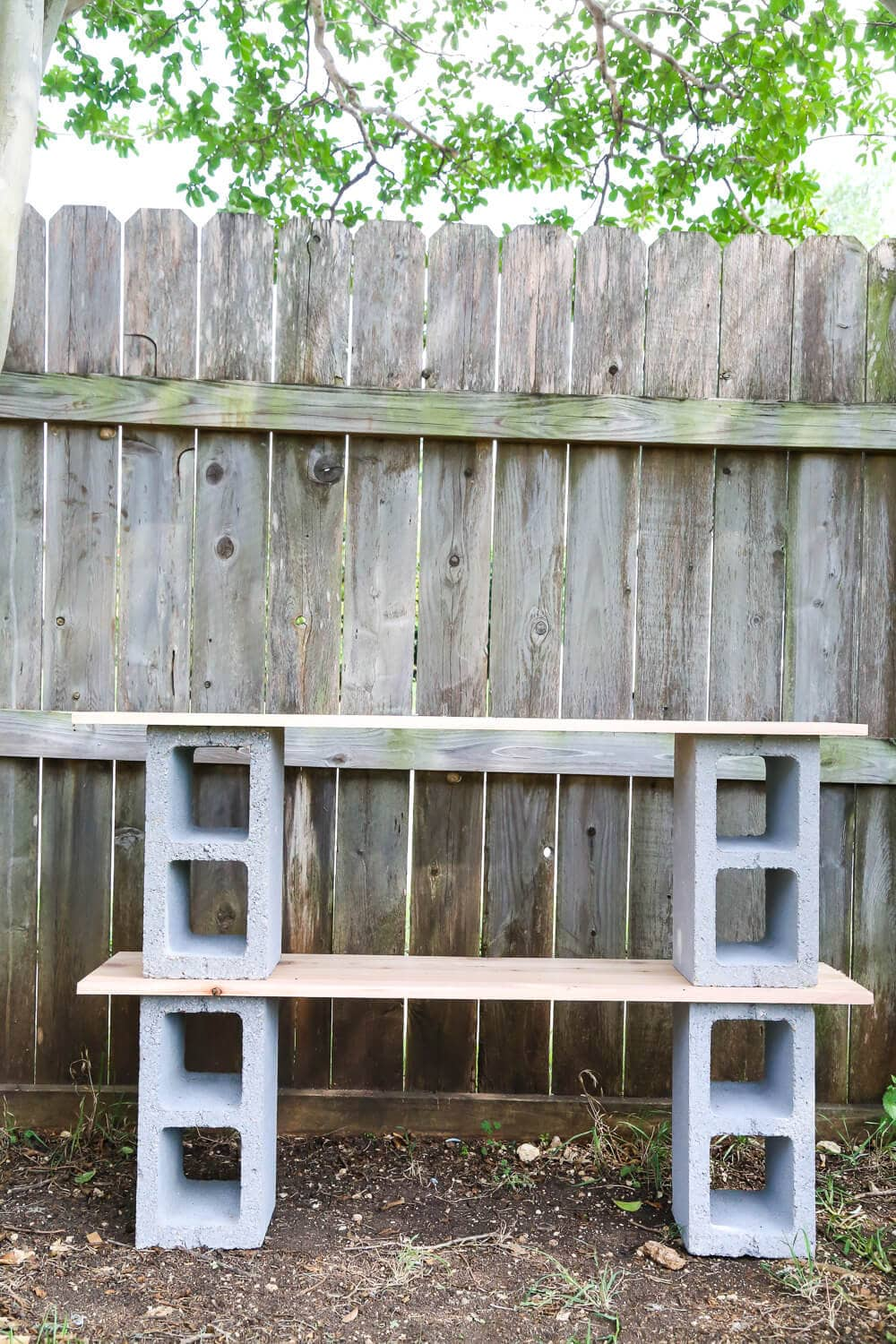 How to build simple cinderblock shelves to hold your plants. A really quick  and simple