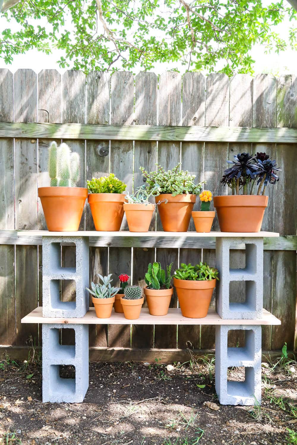 Diy Cinder Block Shelves Outdoor