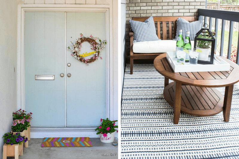 Ideas for a small front porch love renovations for Small front porch decor