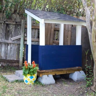 How to install GAR roofing shingles on a playhouse. Gorgeous outdoor playhouse design, great ideas for playhouse for kids in the backyard.