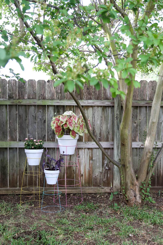 diy tomato cage plant stands love renovations. Black Bedroom Furniture Sets. Home Design Ideas