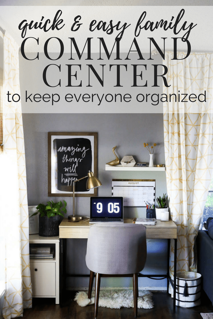 Tips for creating a simple and functional family command center to keep everyone in the family organized.