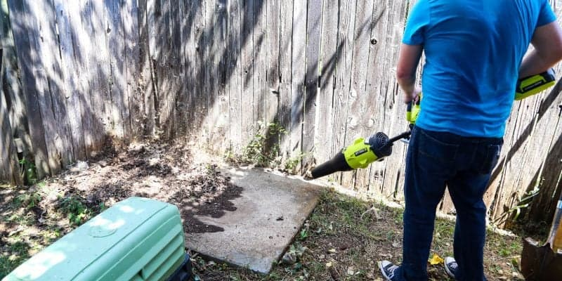A quick backyard clean-up, thanks to Ryobi tools and a little elbow grease! Plus, great tips on how to keep you backyard organized and maintained throughout the summer.