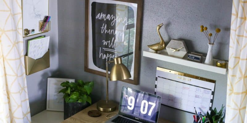 Creating a simple and organized family command center.