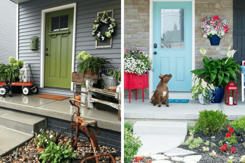 Ideas for a small front porch love renovations ideas for decorating a small porch or front entry easy diy projects and fun ideas solutioingenieria Image collections