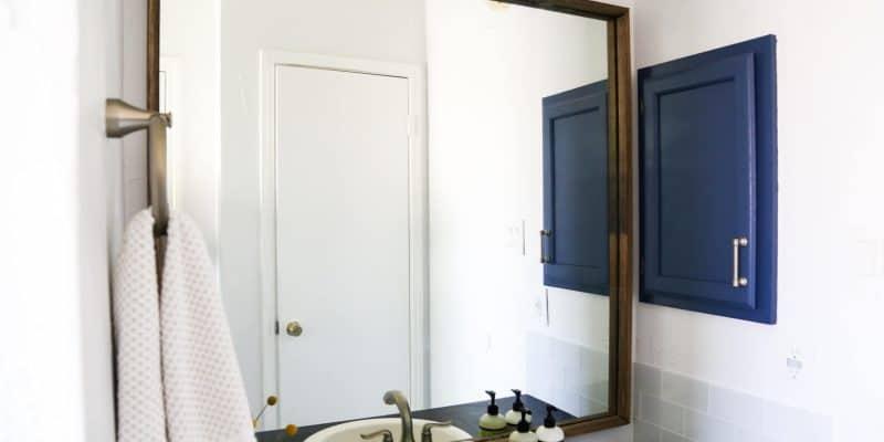 Framing Our Bathroom Mirror | Love & Renovations
