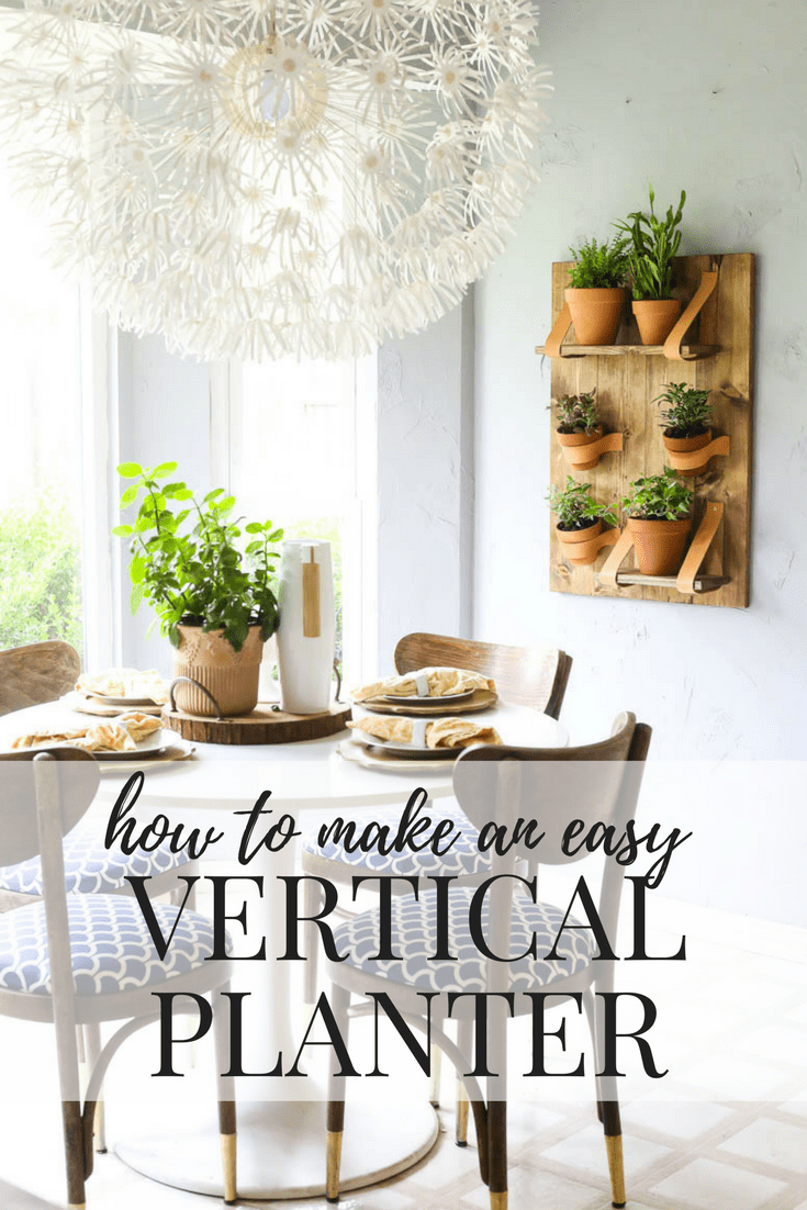 This DIY vertical wall planter is so gorgeous, and so simple! Great ideas for making a simple vertical planter for all of your favorite houseplants, and you can do it by yourself in an afternoon!
