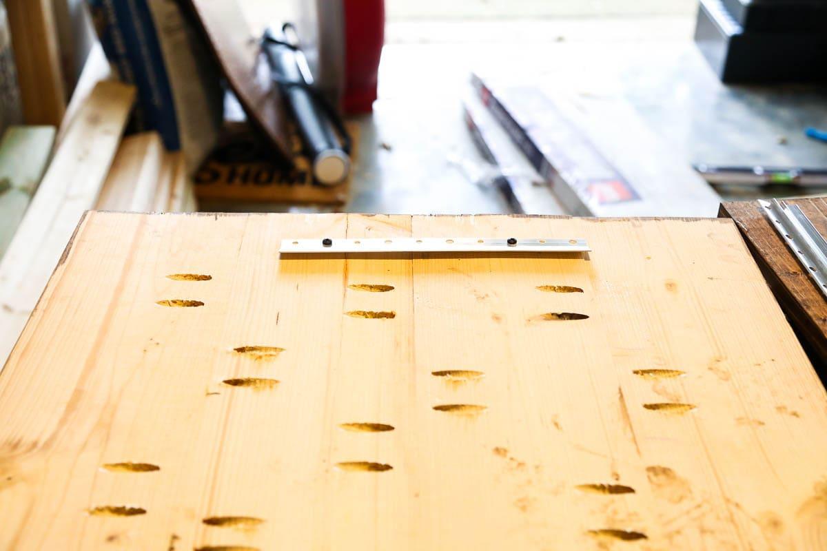Steps for building DIY plant shelf