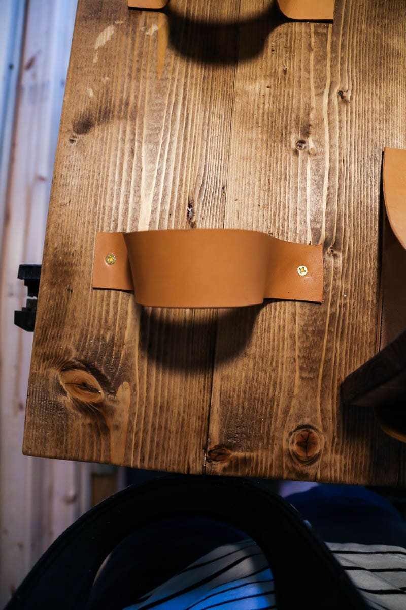 How to create a leather strap to hold a vertical planter