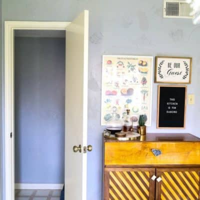 The before shots of a powder room makeover