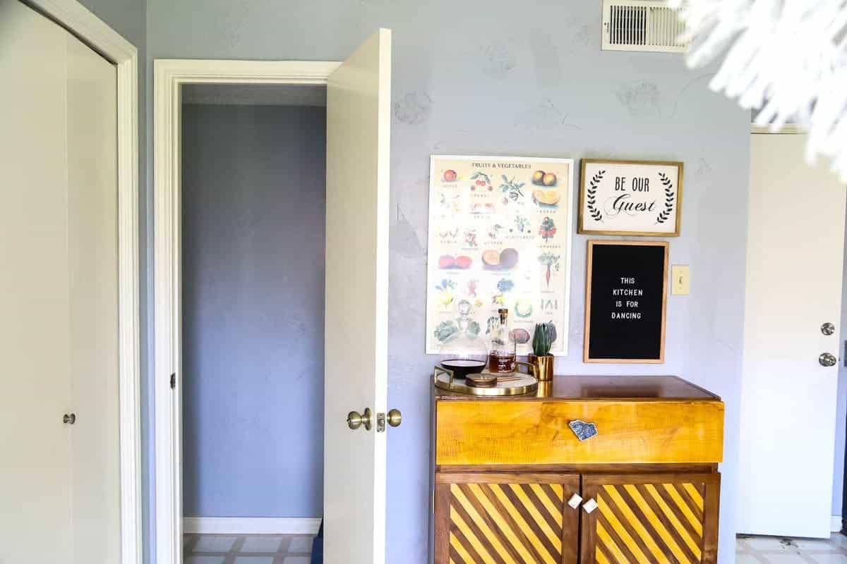 Wallpaper powder room