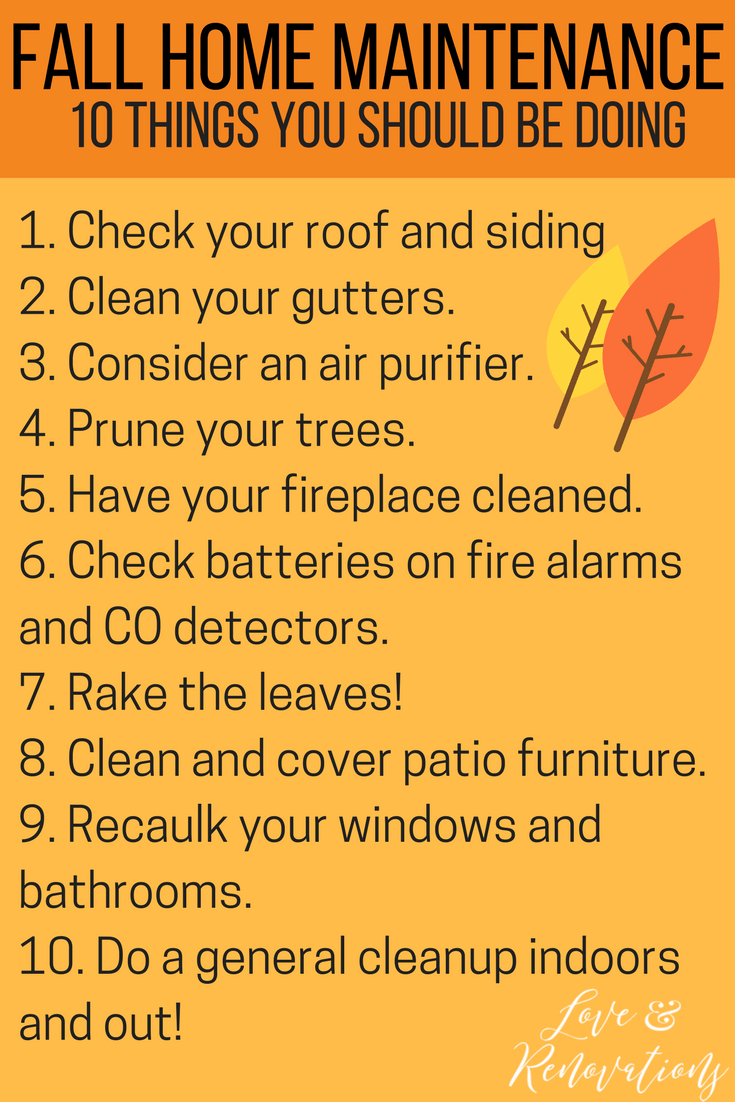Fall Home Maintenance Tips fall home maintenance tips | love & renovations