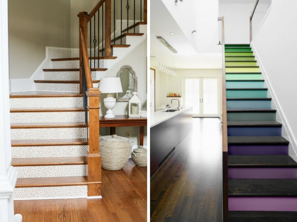 How to decorate a staircase