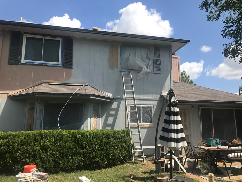 Painting house exterior - before and after photos and tips