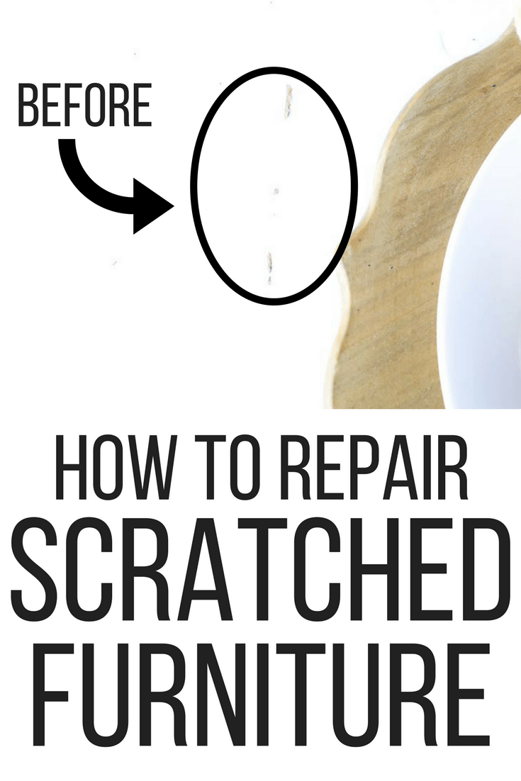 How to fix scratches on your furniture using this amazing new product from Mohawk! #furniture #repairfurniture