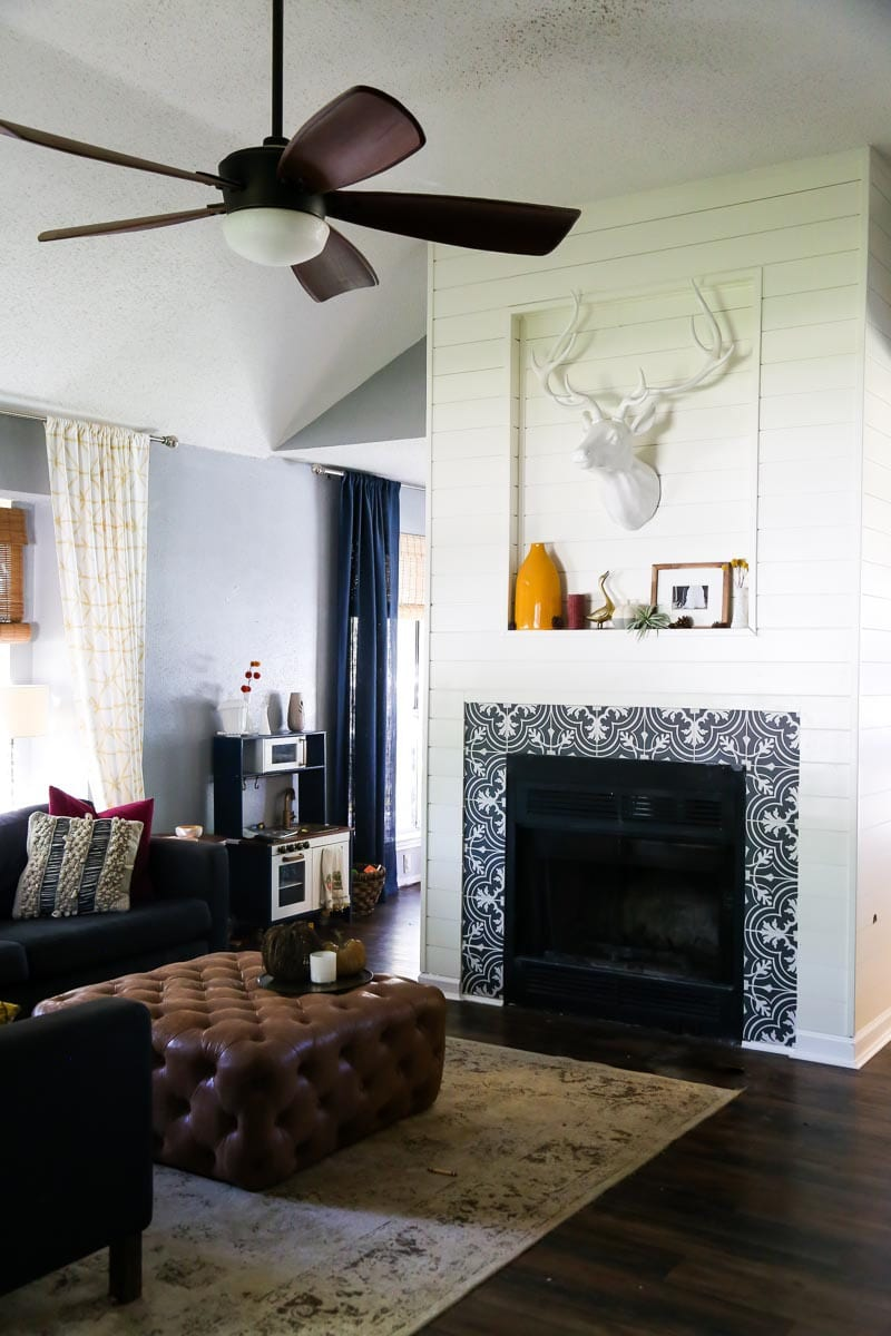 How to use Home Depot's shiplap products to totally make over your fireplace