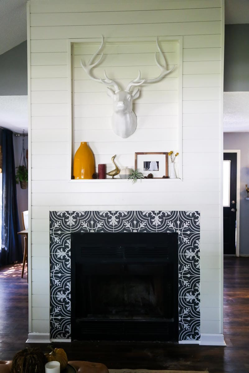 our diy fireplace makeover love u0026 renovations
