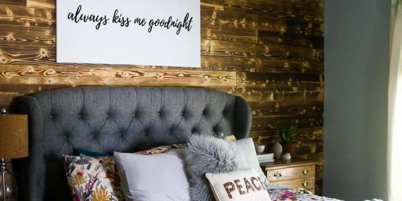 How to create a beautiful accent wall in your home using wood planks