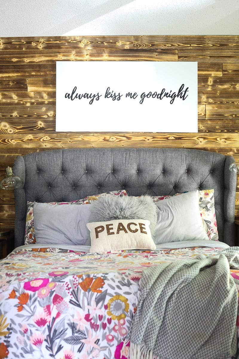 How to install a gorgeous, rustic DIY wood plank accent wall in your home. It's a simple project that will make a huge difference in your space!