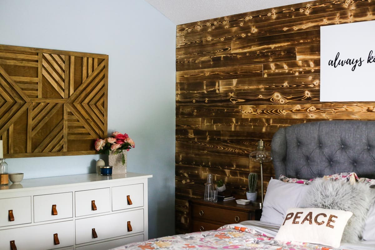 Do It Yourself Home Design: DIY Wood Accent Wall: How To Add A Plank Wall To Your Bedroom