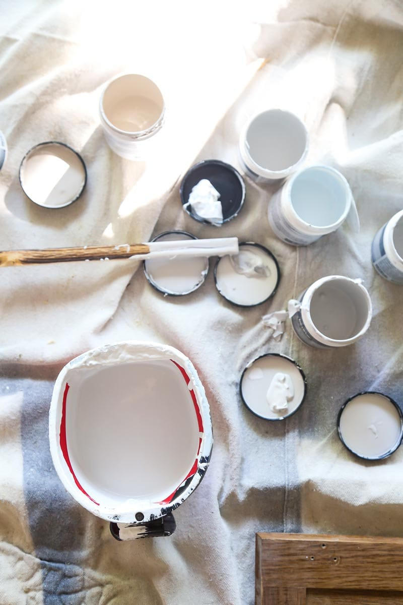 Using paint samples to create a new color