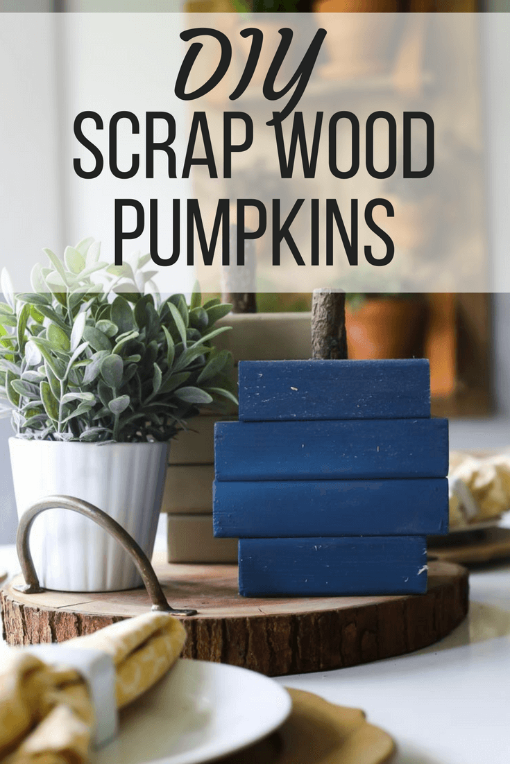 DIY painted wood pumpkins (great for your porch!) - made from scrap, reclaimed, or pallet wood. It's a really fun, rustic fall craft!