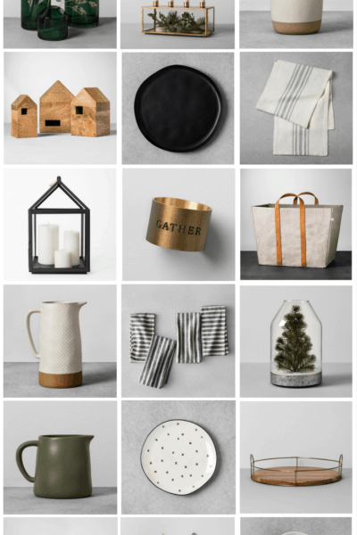 Holiday gift guide - ideas for Christmas gifts for her this Christmas season. Beautiful home decor gifts from the Hearth & Hand Magnolia collection at Target.